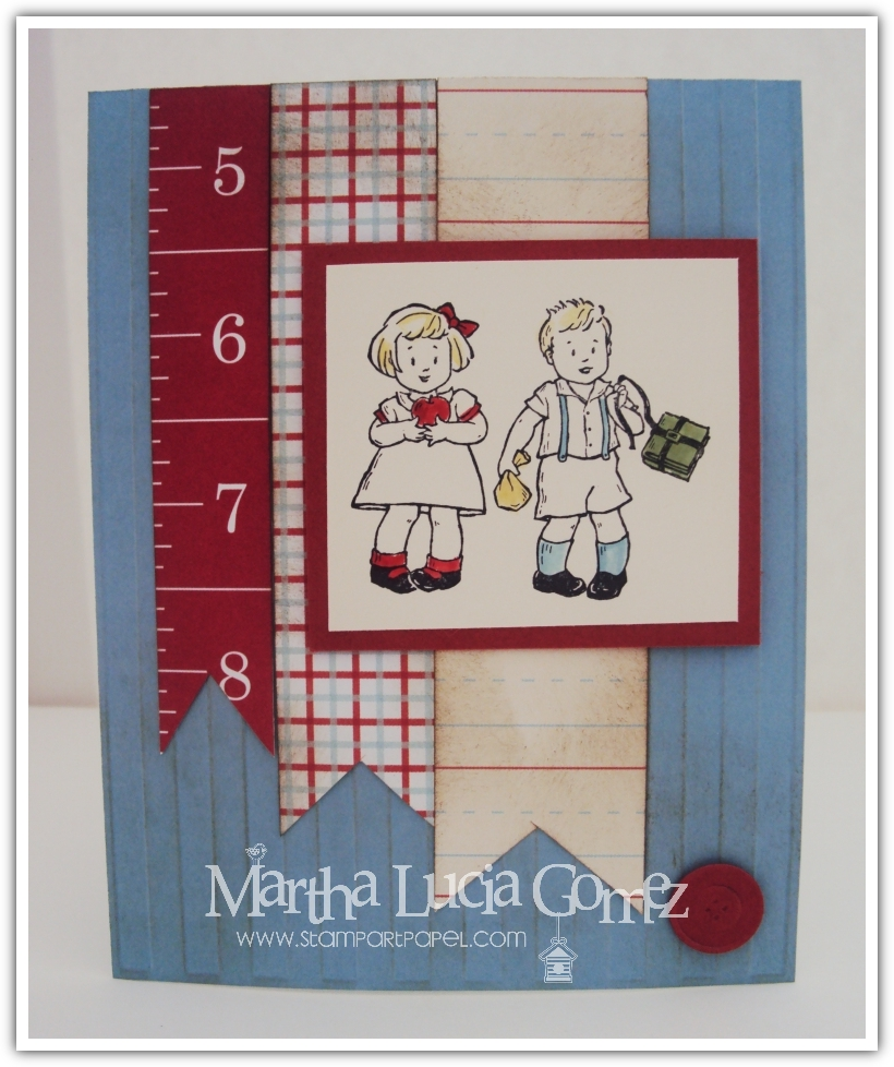 tarjetas hechas a mano, proyectos en español, tutoriales en espanol, clases de stamping, scrapbooking en espanol, stampin up demonstrator, stampin up, manualidades en papel, Greeting Card Kids