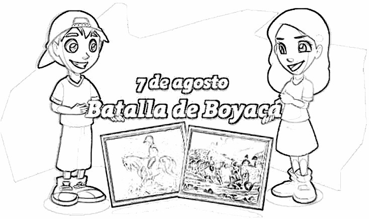 Colorear dibujos Batalla de Boyacá, Colombia | Jugar y colorear