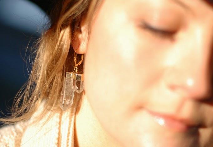 Quartz earrings Dear You, Pretty Things Vancouver