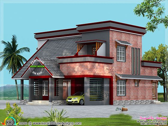 Brick wall mix house design