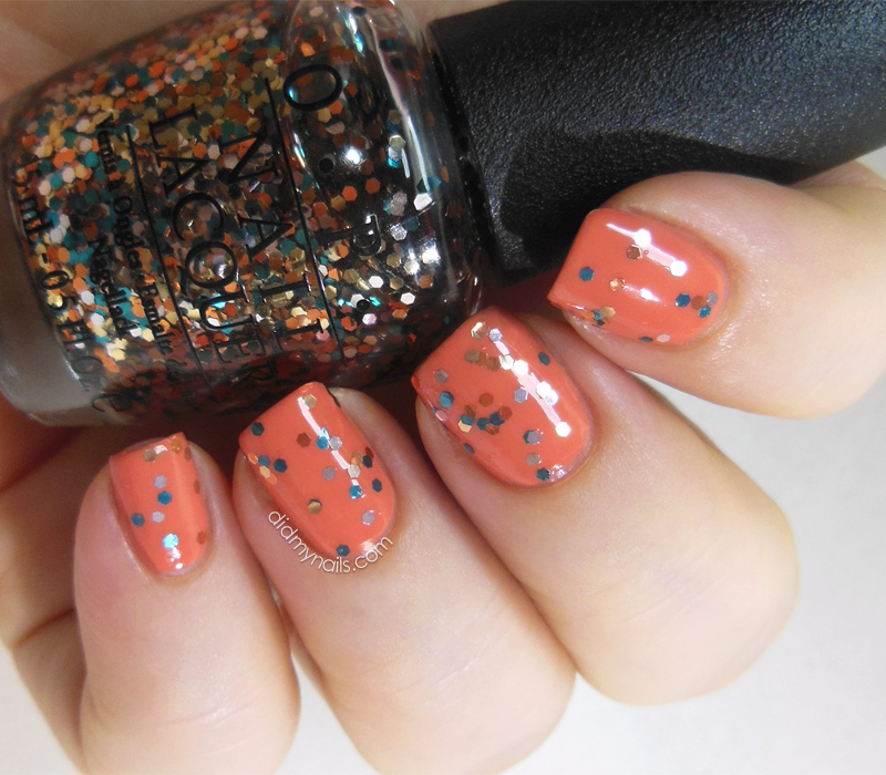 Barielle Orange Parfait with OPI The Living Daylights