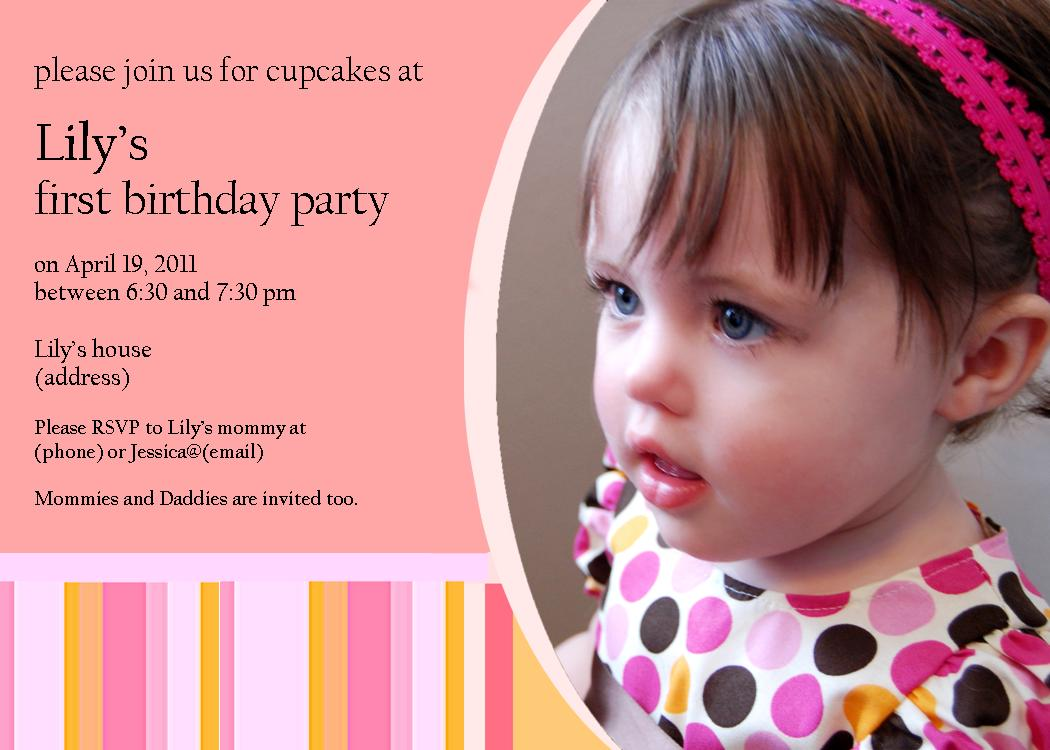 Utah County Mom Oneyearold Birthday Party Ideas - Birthday invitation for one year baby
