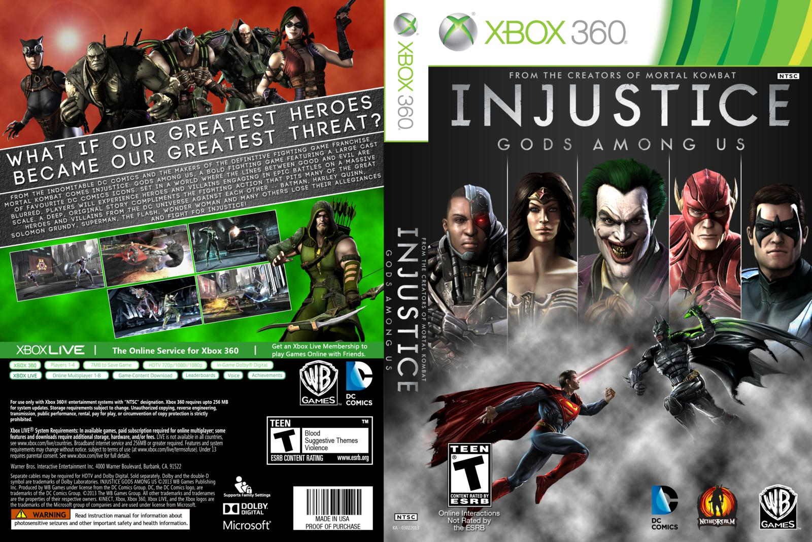 Games covers injustice gods among us cover xbox 360