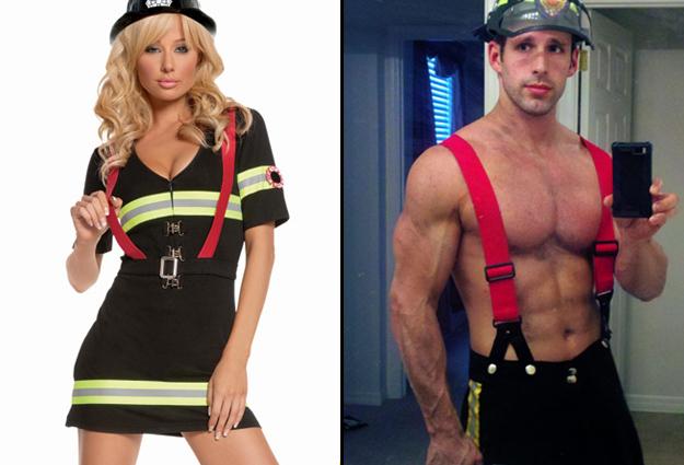 costume pompier homme et femme
