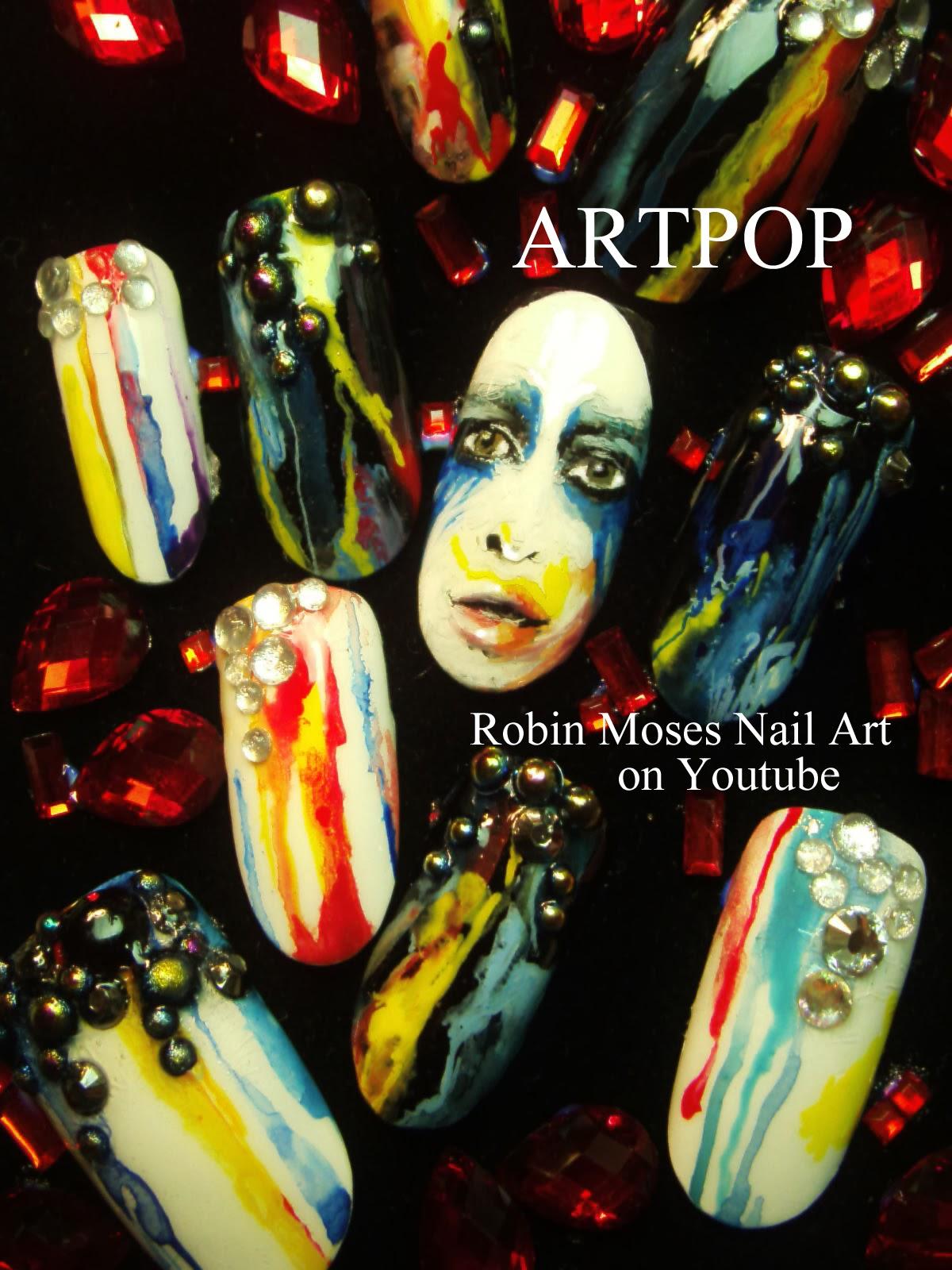 Robin Moses Nail Art Quot Lady Gaga Nails Quot Quot Nail Art Quot Quot Artpop