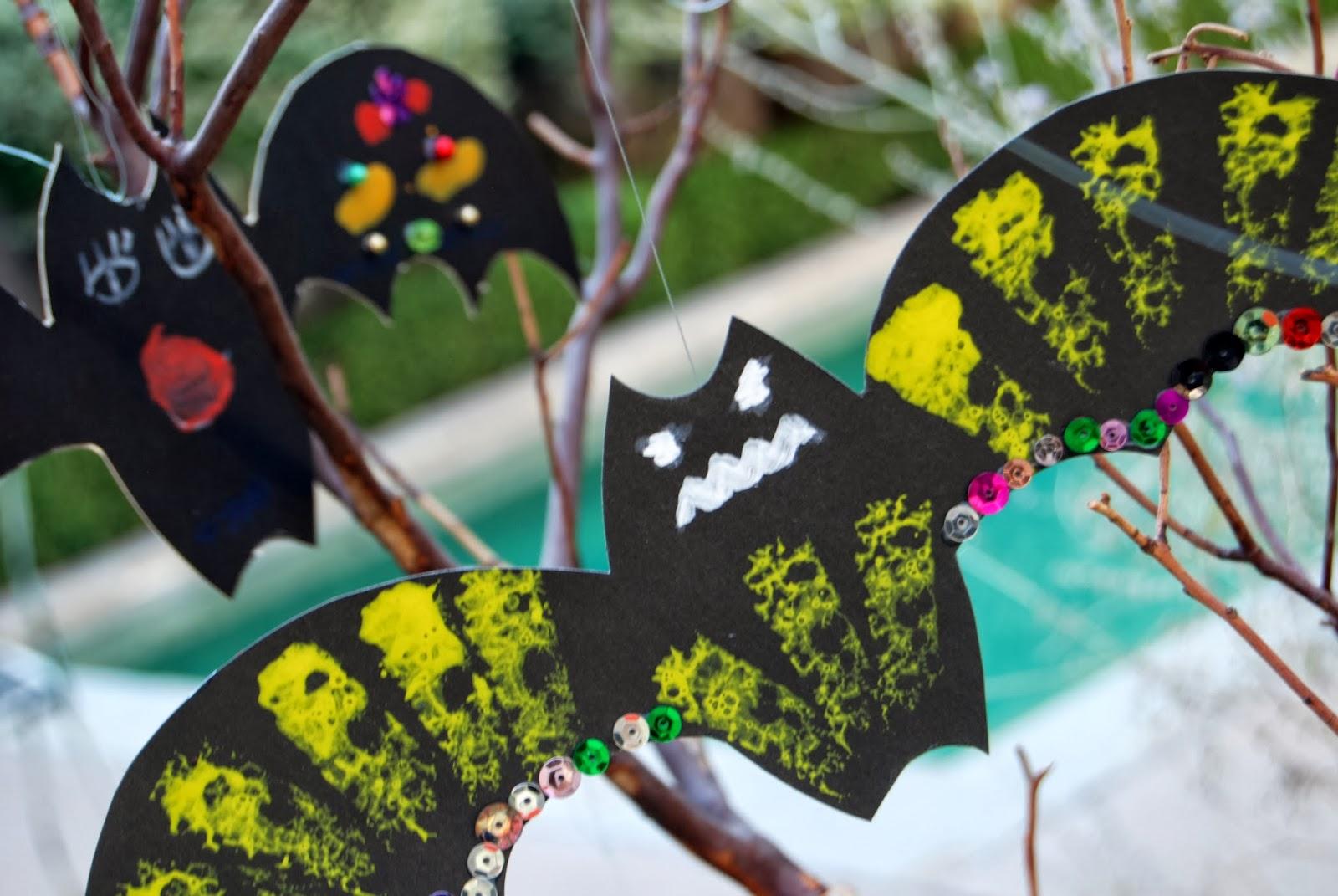 Handmade Bats for Halloween; DIY