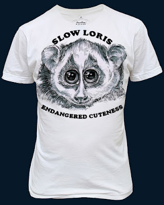 slow loris t-shirt, endangered species t-shirt