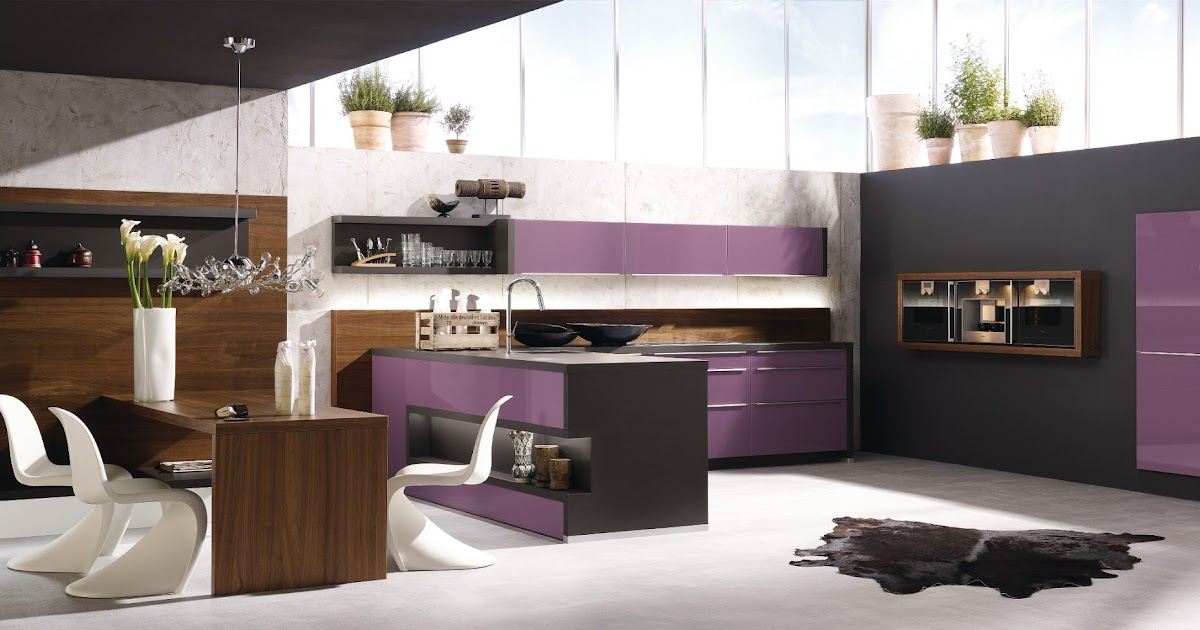 cuisine design violette. Black Bedroom Furniture Sets. Home Design Ideas