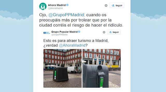 Tremendo ZASCA de Ahora Madrid al PP de Madrid