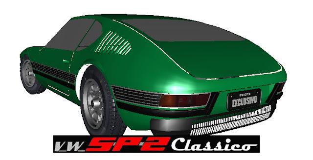Volkswagen SP2 renderizado - GTA San Andreas