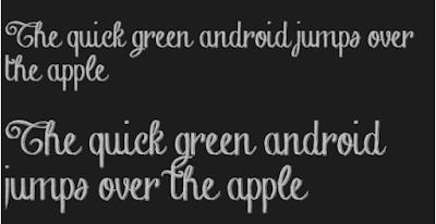 ganti font android