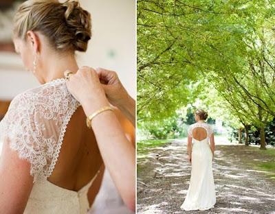 0 Vestido de noiva com decote nas costas