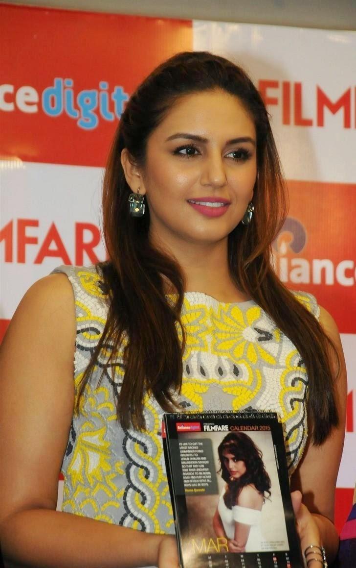 Huma Qureshi launches filmfare calendar 2015