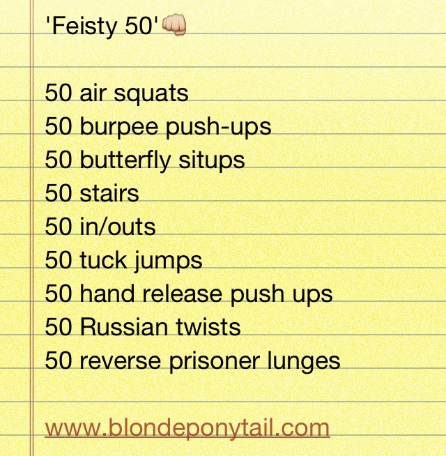 Crossfit Workouts: Feisty 50 At Home Workout