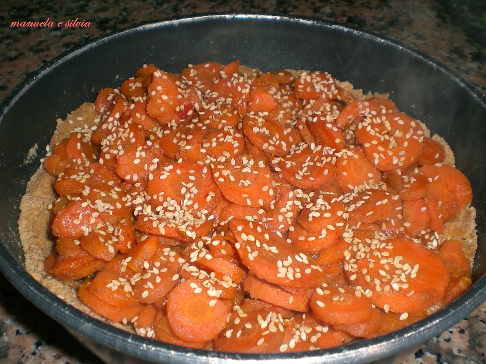 crostata friabile alle carote speziate