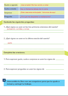 Respuestas Apoyo Primaria Español 2do grado Bloque 4 lección 19 Los diálogos de los personajes