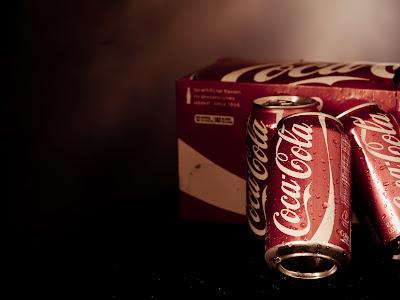 Cold Coca Cola Cans Water Drops HD Desktop Wallpaper