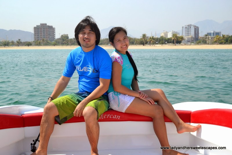 Ed and Lady in Khorfakkan Sharjah