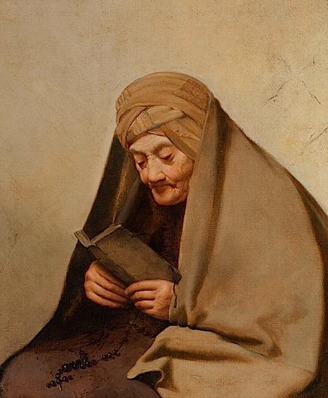 Abraham van Dyck, Lesende alte Orientalin, um 1655-60