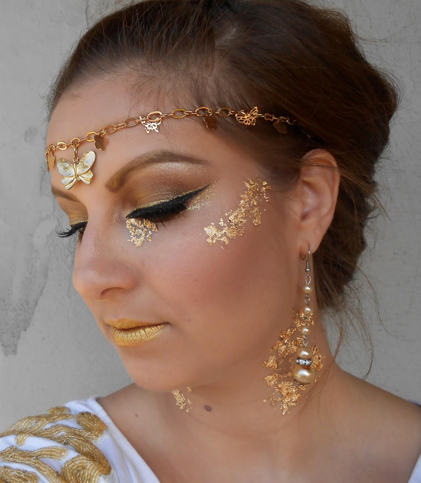fotd golden goddess halloween makeup beauty of the suns
