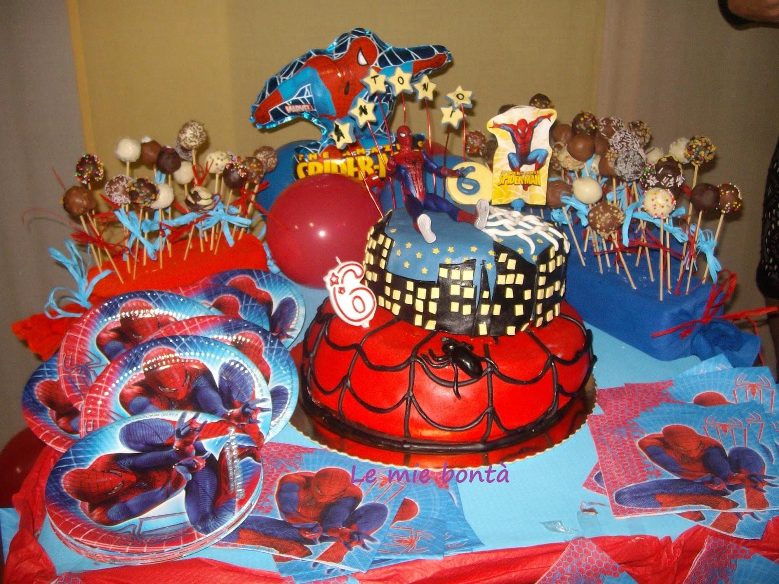 Torta spider man le mie bont for Decorazione torte spiderman