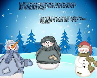 tarjetas de navidad con muñecos de nieve
