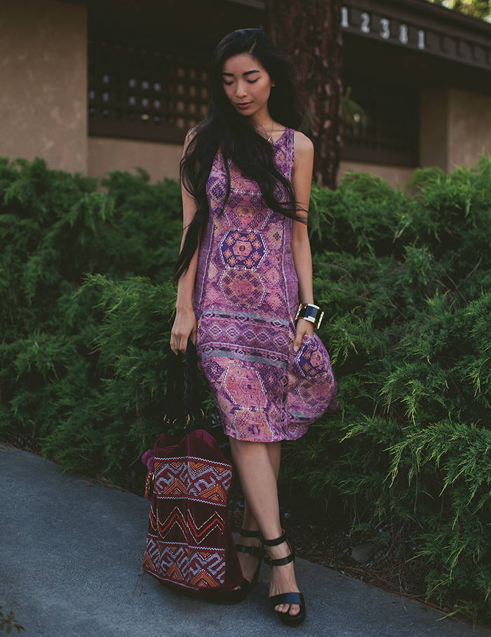 Stephanie Liu of Honey & Silk wearing Three Dots, Stela 9, and BC Footwear