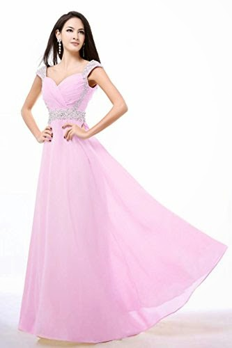 Balllily Women's Long Chiffon Bridesmaid Prom Dress Evening Gowns