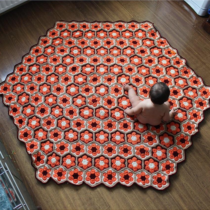 Crochet Patterns Rugs : Crochet: Crochet rug. African flower pattern.