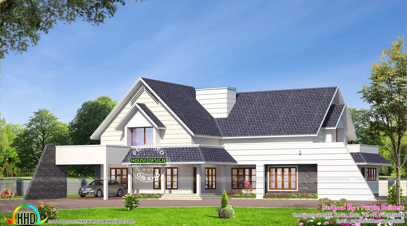 Ground Floor Bungalow Elevation : Bungalow house design kerala home and floor plans