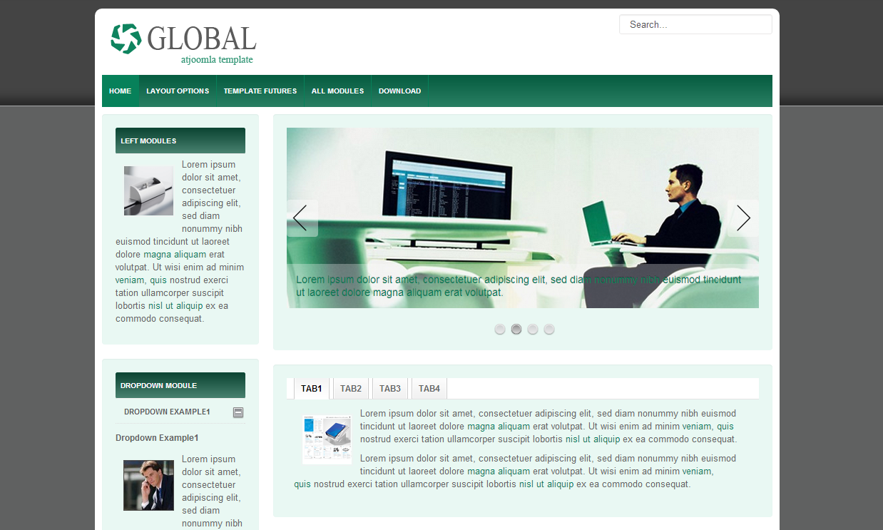 At Global Free Joomla Template