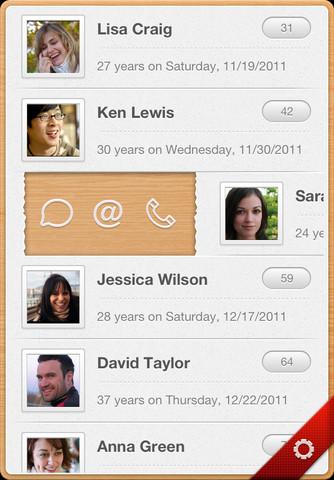 Yearly iPhone App UI