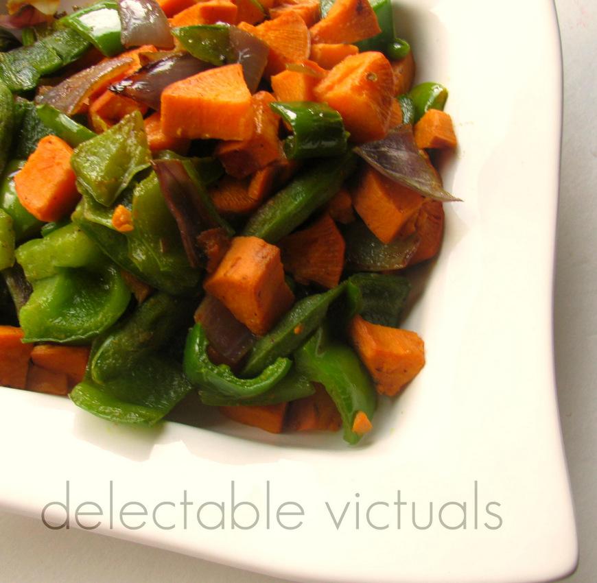 sweet potatoes green bell pepper long pepper pippali