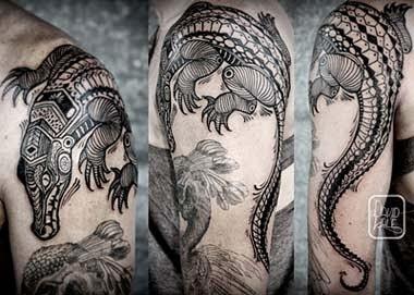 Desenhos tatuagens de animais crocodilo