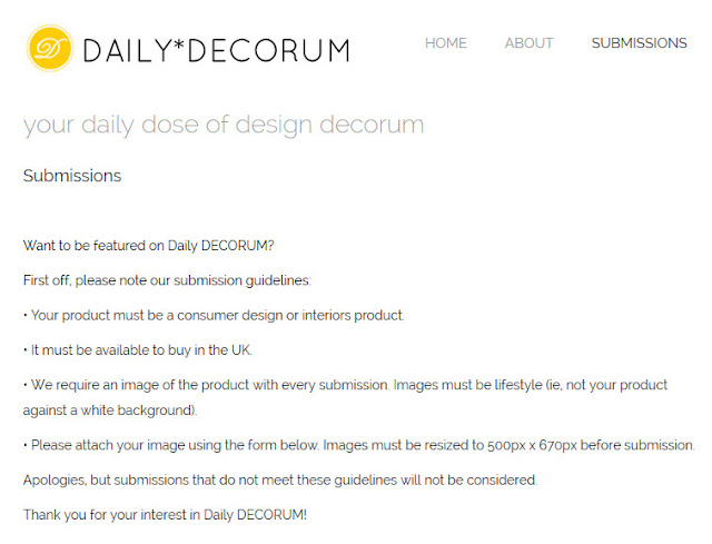 Daily Decorum - A Leg Up For Designers