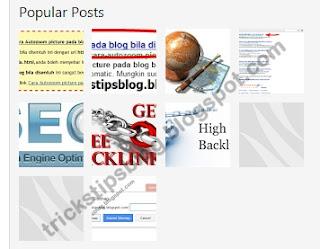 Cara Membuat Popular Post Berbentuk Grid (Kotak)