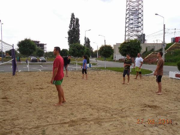 Antrenament cu bloggeri la nisip :)