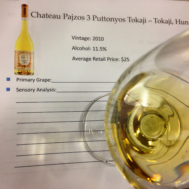 Tasting Sheet Notes for Chateau Pajzos Puttonyos Dessert Wine