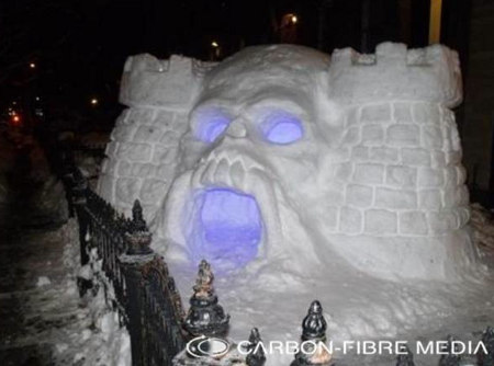 how to make a cool snow fort