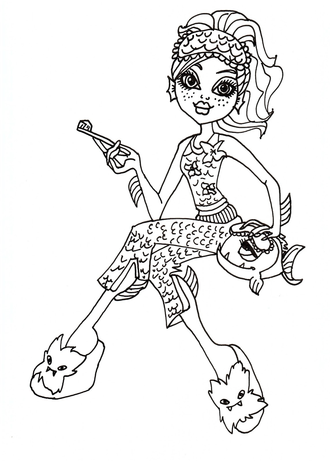 monster high coloring pages lagoona - photo#8