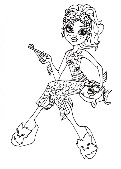 All about monster high dolls lagoona blue free printable for Monster high lagoona blue coloring pages