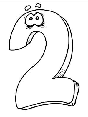 Belajar Mewarnai Gambar Untuk Anak Anak dengan Angka 2 (dua)