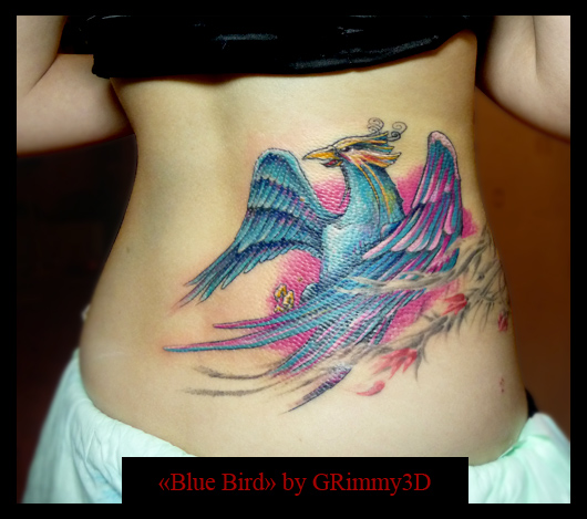 Blue birds tattoo - photo#15