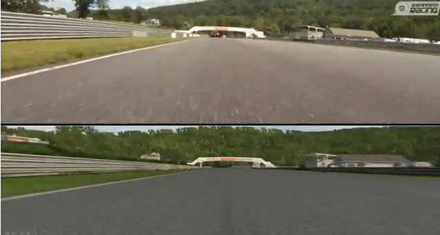 Lime rock Park real versus simulador
