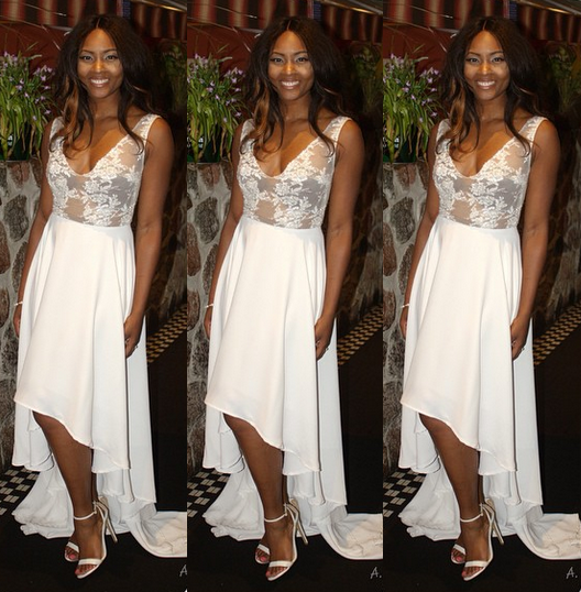 osas went for an all white ensemble for her bridal shower which took place in nyc her wedding is schudlled to take place 20th june and 4th july
