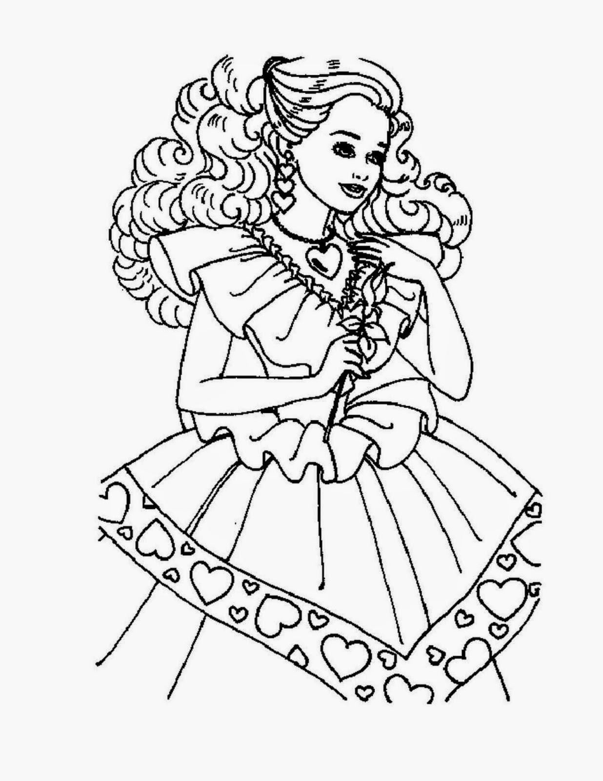 Gambar 10 Gambar Mewarnai Barbie Mariposa Kartun Lucu Mencari