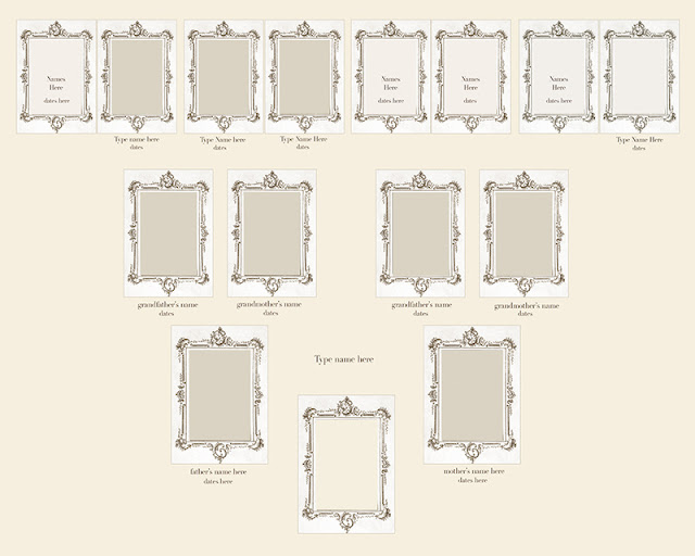 take out photo family tree photoshop tutorial and free template. Black Bedroom Furniture Sets. Home Design Ideas