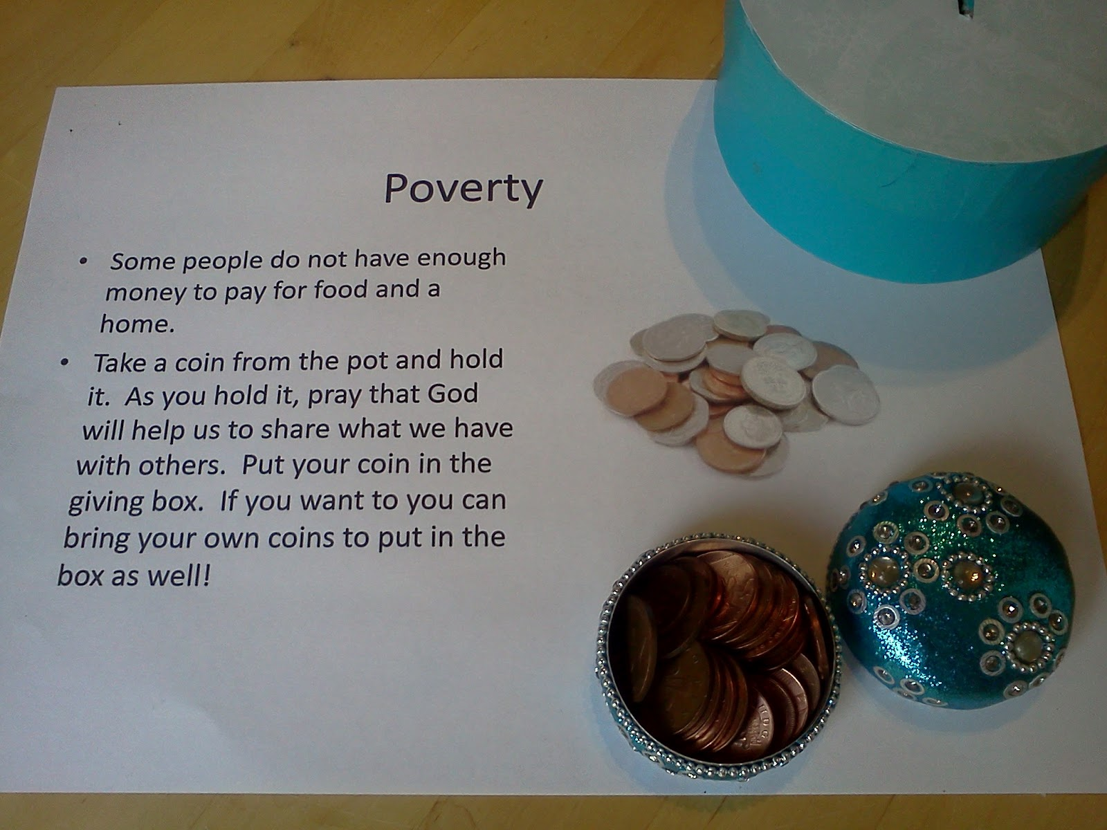 Flame: Creative Children's Ministry: Poverty Prayer Station