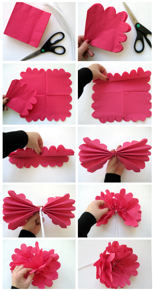 Paper Napkin Flowers