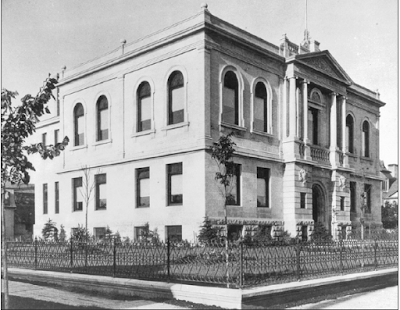 The Carnegie Library at 380 William Avenue ca. 1905. Photo courtesy of the City of Winnipeg Historical Report.
